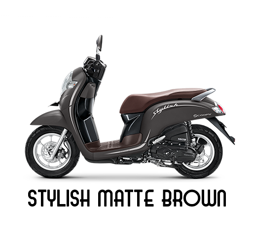honda scoopy brown solo